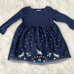 Embroidered Unicorn Dress - Hanna Andersson 4T